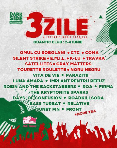 Poster 3ZILE. A Friendly Music Festival