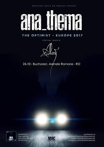 Poster Anathema - The Optimist European Tour