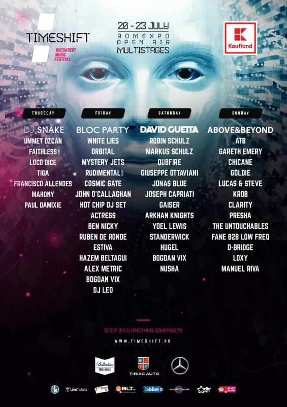 Poster Timeshift Bucharest Dance Music Festival
