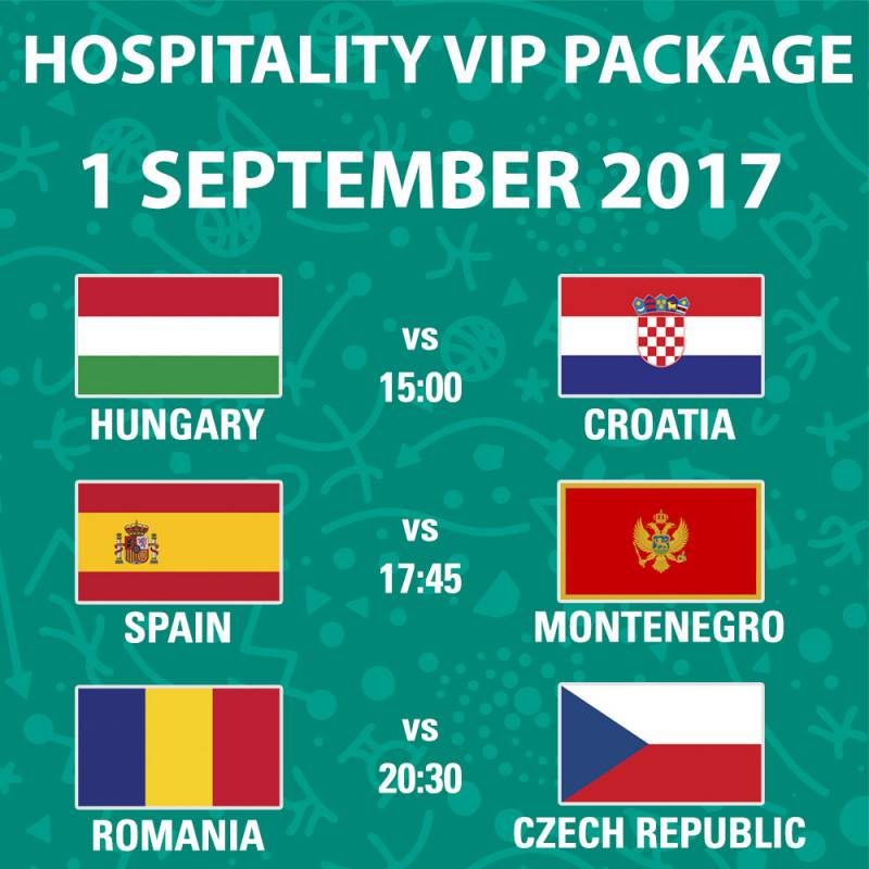 Poster FIBA EuroBasket 2017 -  Day 1 - Hospitality Package