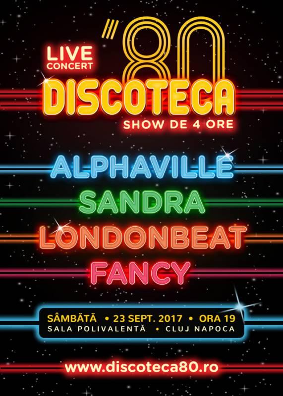 Poster Discoteca '80 – Alphaville, Sandra, Londonbeat, Fancy