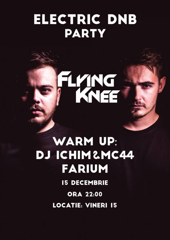 Poster Electric DNB Party - Flying Knee