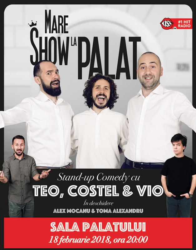 Poster Teo, Vio si Costel - Mare Show La Palat!