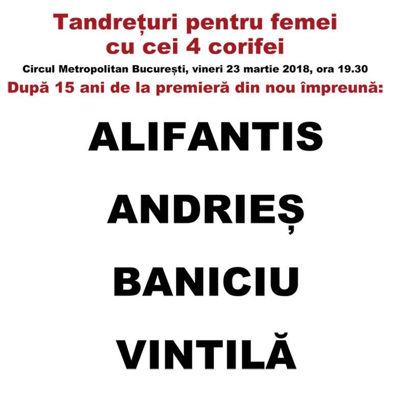 Poster Tandreturi pentru femei cu cei patru corifei