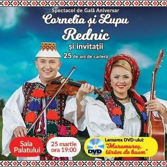 Poster Cornelia si Lupu Rednic - Spectacol de gala aniversar
