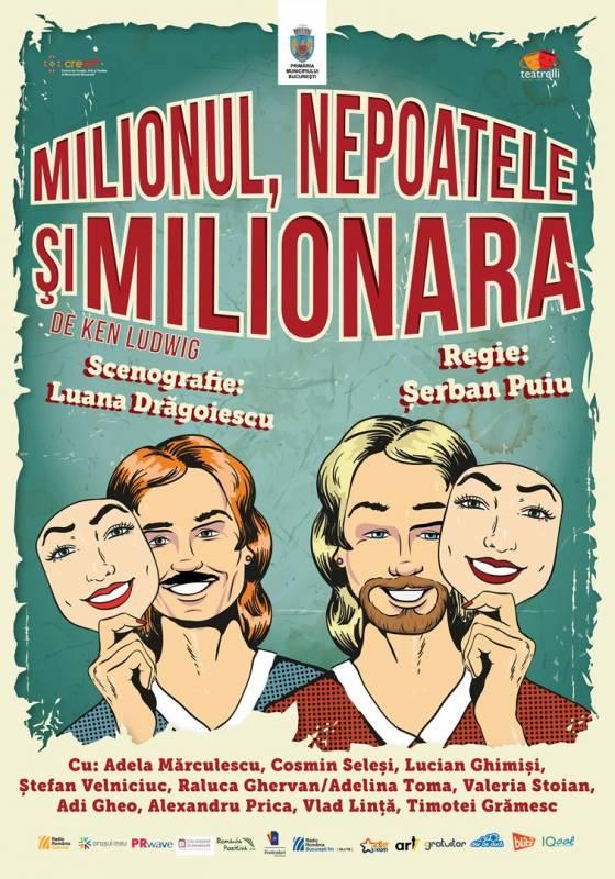 Poster Milionul, nepoatele si milionara
