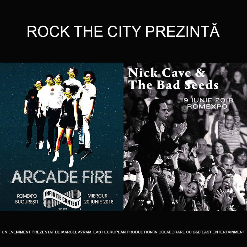 Poster ROCK THE CITY presents Nick Cave and the Bad Seeds, Arcade Fire