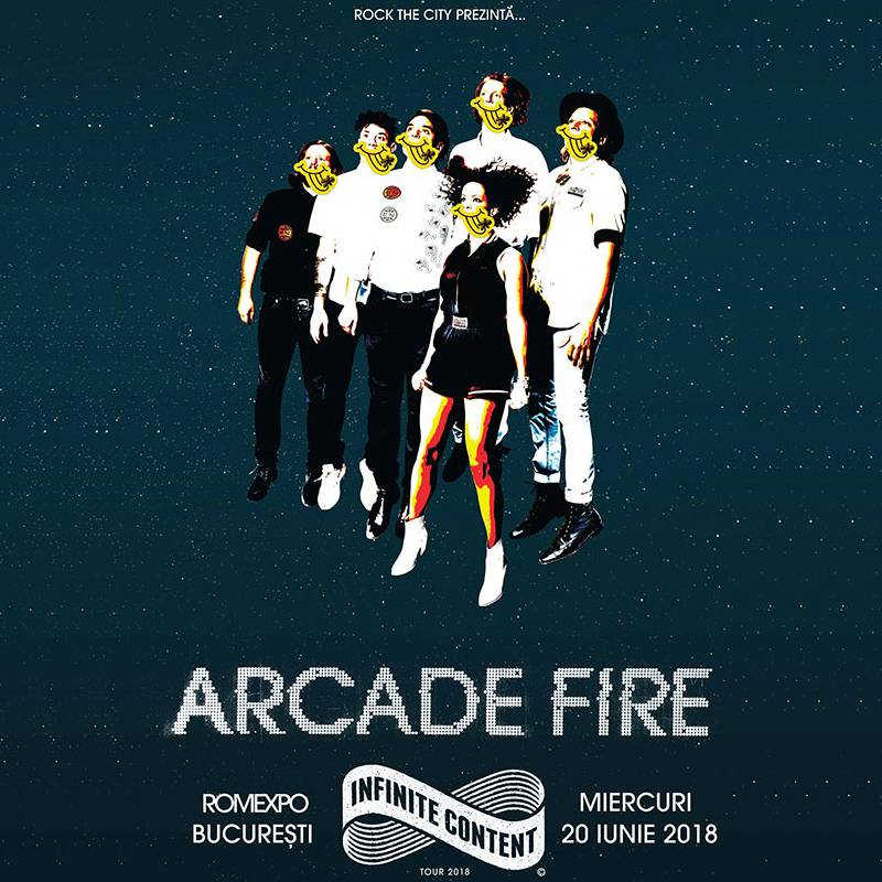 Poster ROCK THE CITY PRESENTS ARCADE FIRE