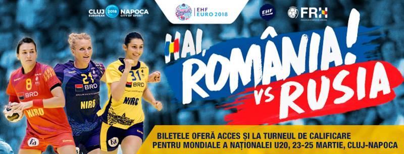 Poster Handbal Feminin: Romania – Rusia