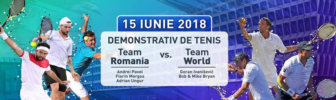 Demo Tenis | Team Romania vs Team World