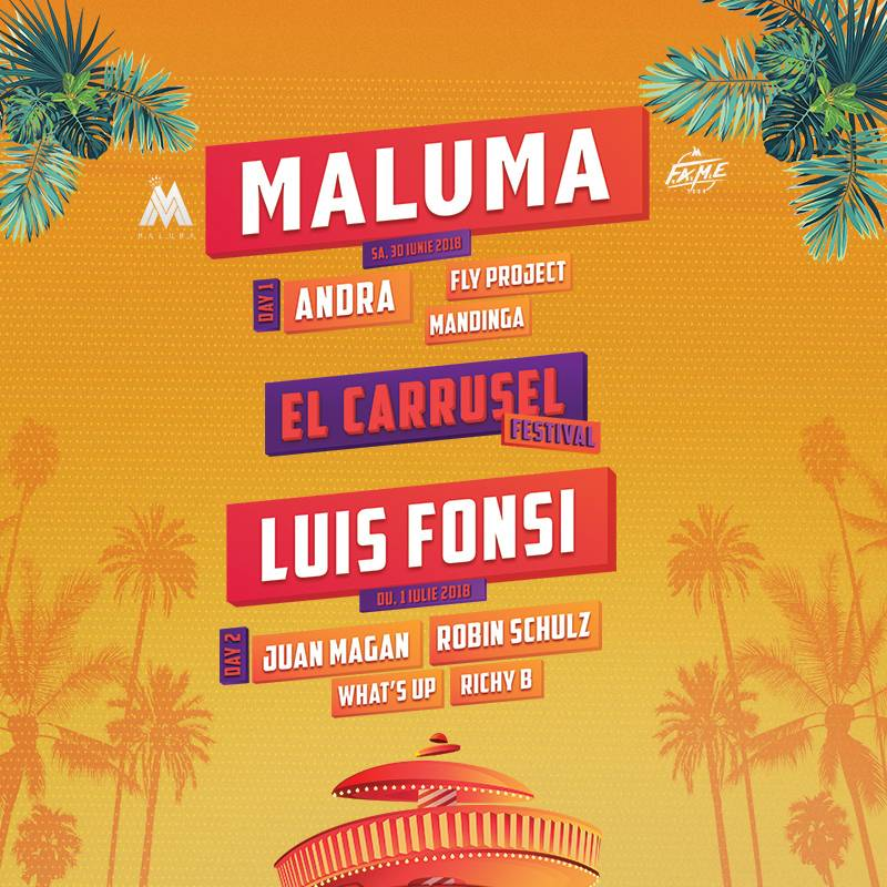 Poster MALUMA / LUIS FONSI - Festival EL CARRUSEL