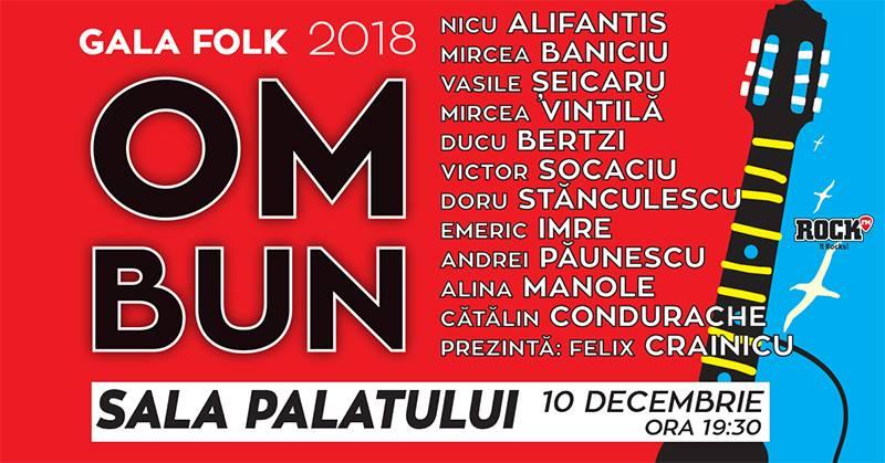 "Poster Gala Folk ""Om bun"""