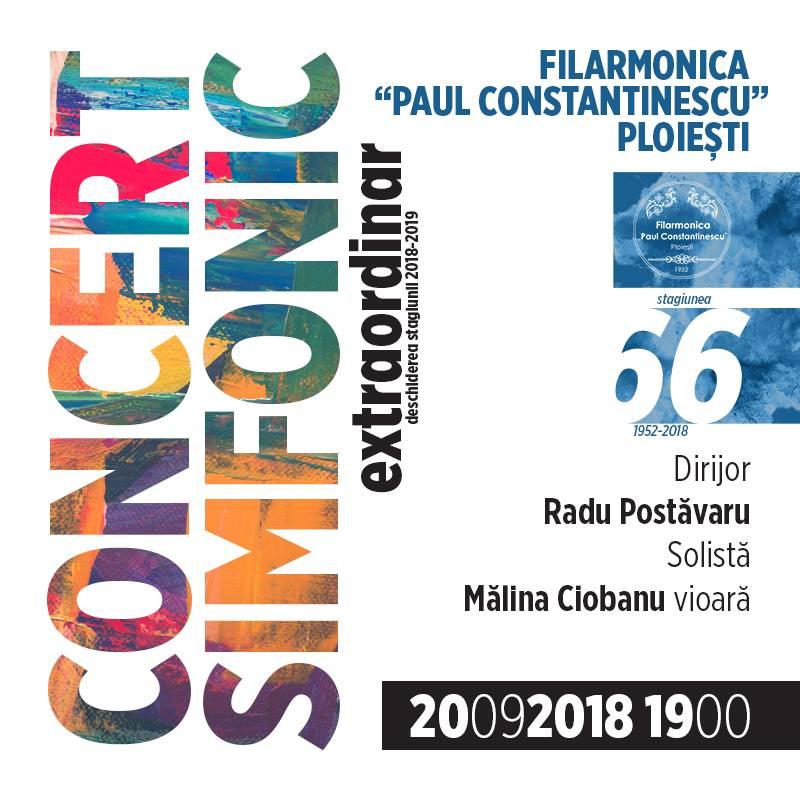 Poster Concert Simfonic Extraordinar – Deschiderea Stagiunii 2018-2019