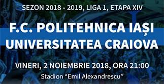 CSM POLITEHNICA IASI  -  UNIVERSITATEA CRAIOVA