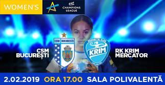 CSM BUCURESTI vs. RK KRIM MERCATOR (SLO)
