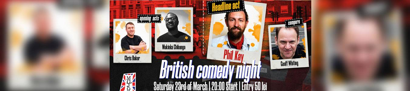 British comedy night   w/ Phil Kay