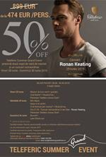 Concert Ronan Keating + pachet cazare si pensiune completa
