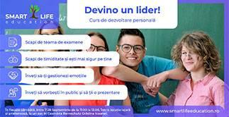 Curs dezvoltare personala adolescenti Devino un LIDER!