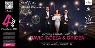 David, Adela & Origen din THE SIX MARTINI ORCHESTRA - PARTENER: PASQUA