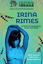 IRINA RIMES accoustic in the Garden